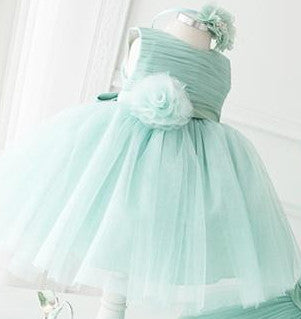 Bow Flower Girl Dress Green