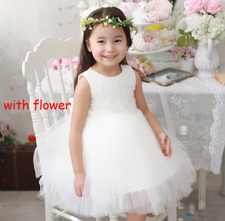 Bow Flower Girl Dress Ivory