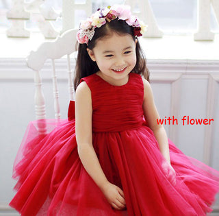 Bow Flower Girl Dress Red