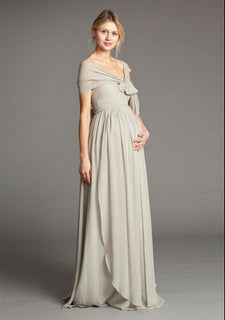 Chiffon Convertible Maternity Bridesmaid Dress