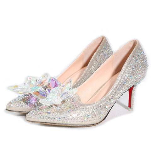 Cinderella Glass Slipper Pointed Heels