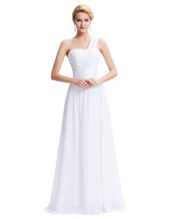 Chiffon Evening Dress White