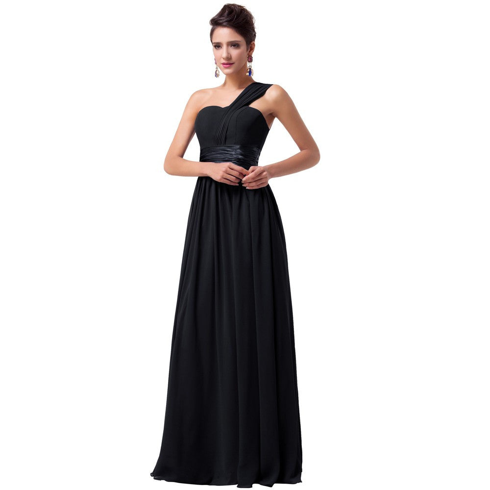 Chiffon Evening Dress Black