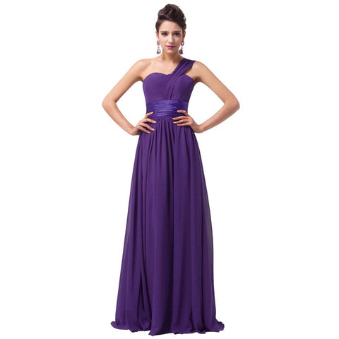 Chiffon Evening Dress Purple