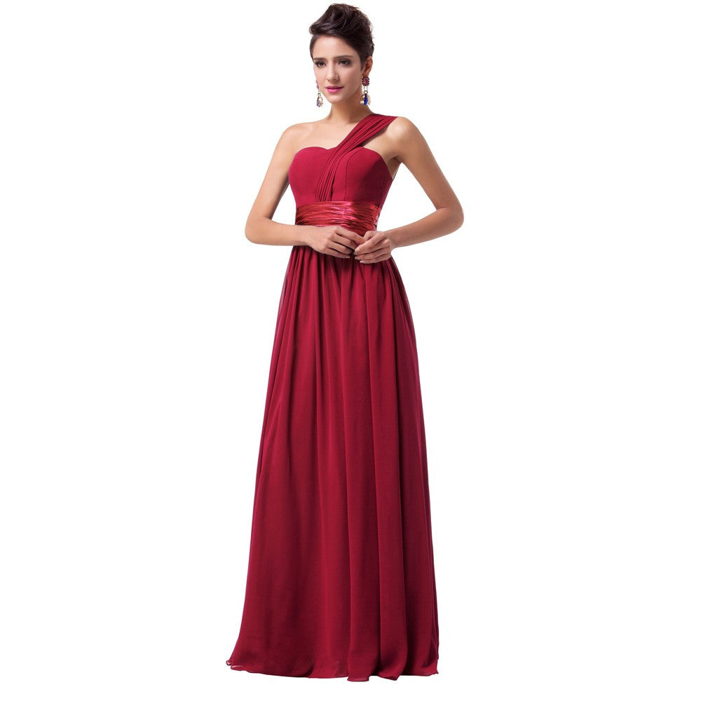 Chiffon Evening Dress Red