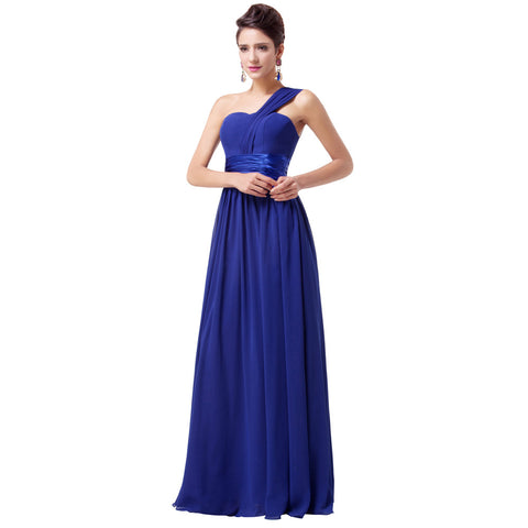 Chiffon Evening Dress Royal Blue