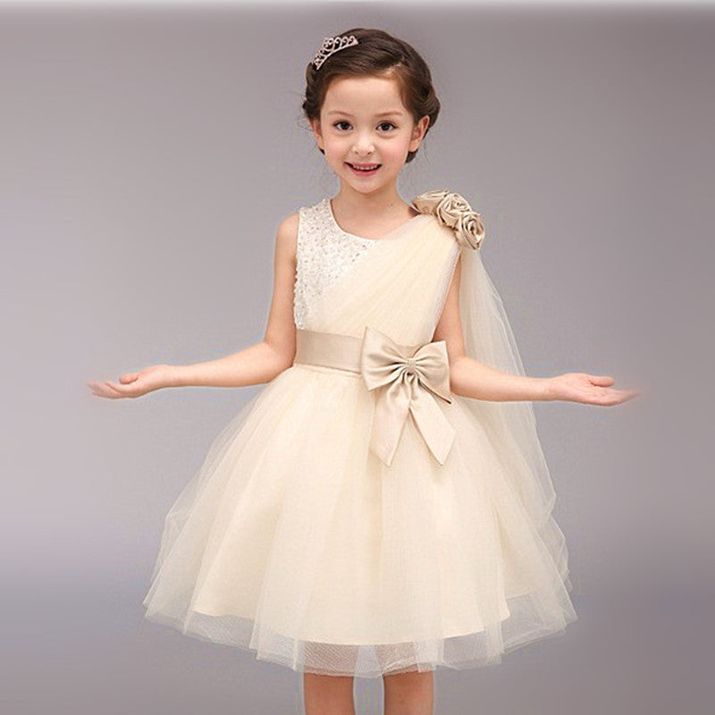 Toddlers Wedding Gown Champagne