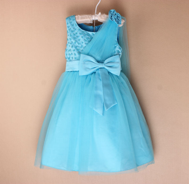 Toddlers Wedding Gown Blue