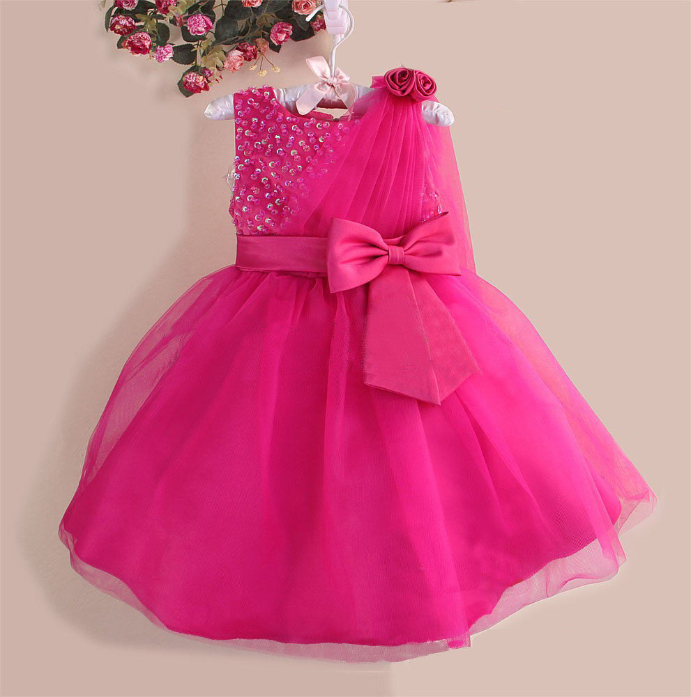 Toddlers Wedding Gown Rose
