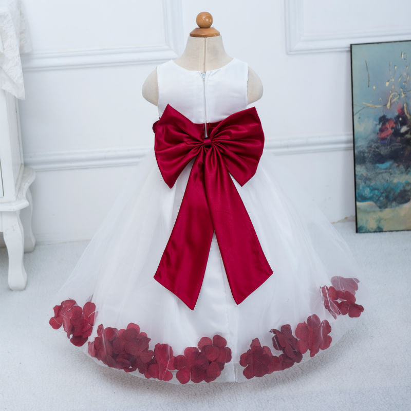 Flower Girl Dress Burgundy