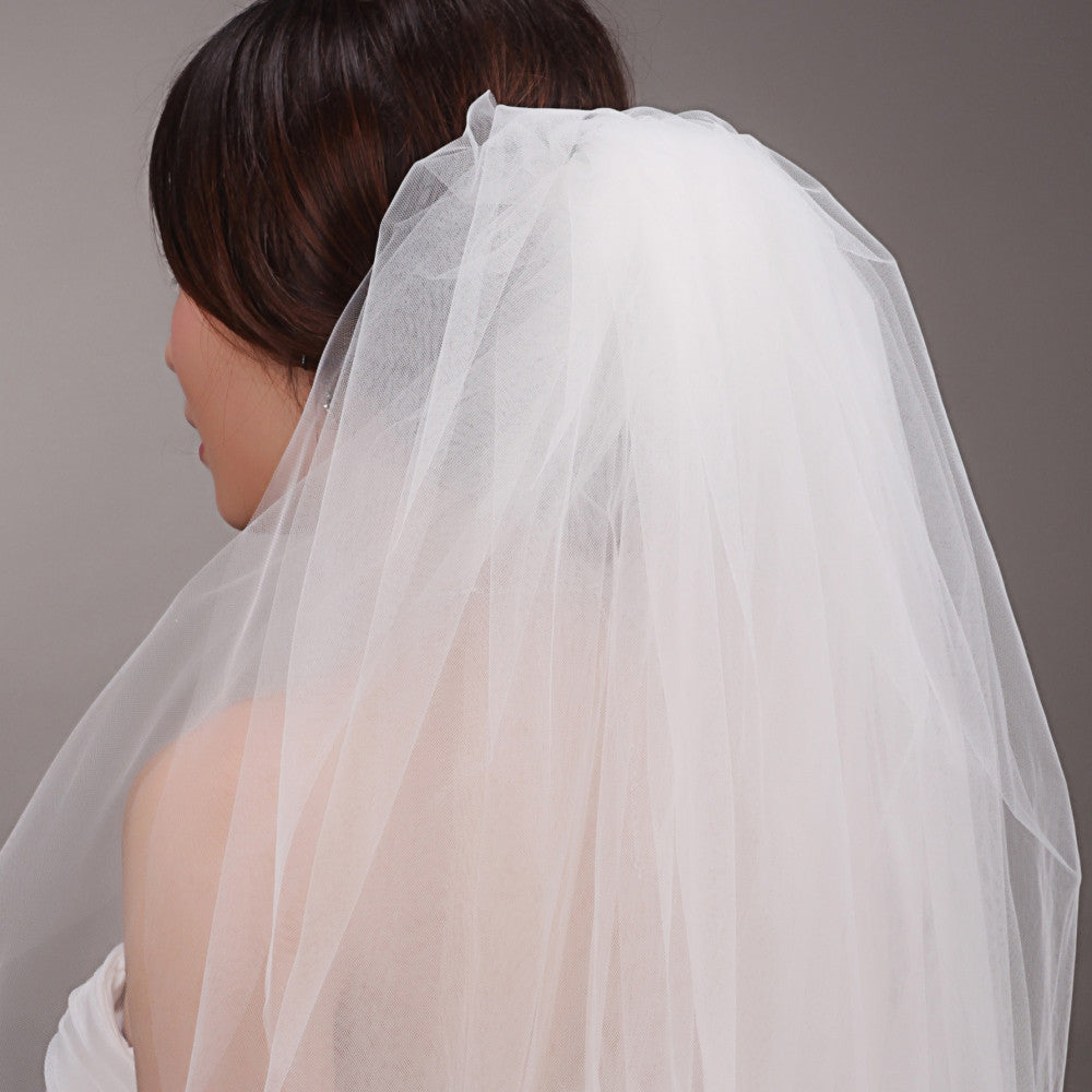 High Quality Tulle Cut Edge Wedding Veil