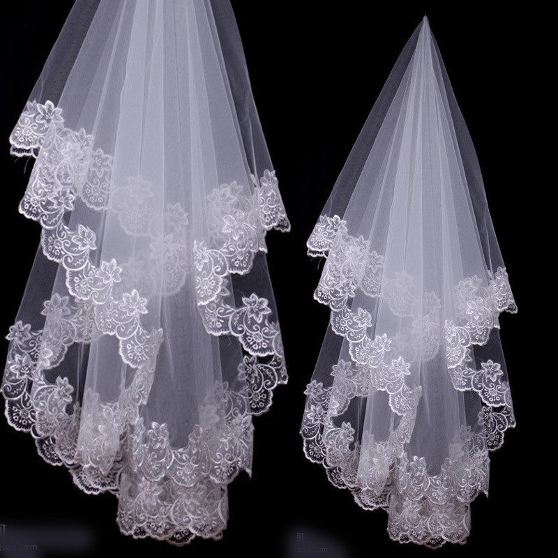 1.5 Meters Lace Embroidered Wedding Veil