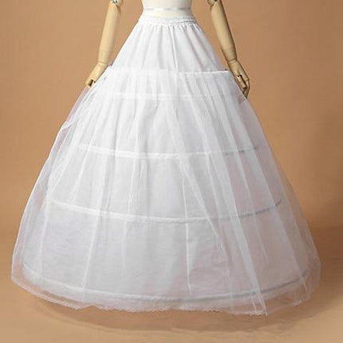 3 Hoop Ball Gown Bone Full Crinoline Petticoat