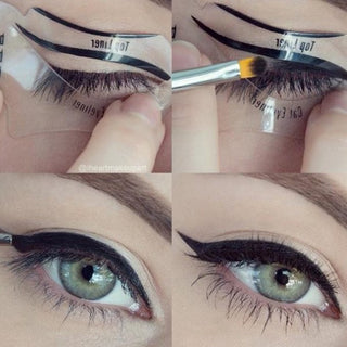 2 style 10 pcs Fashion Eyeliner Template