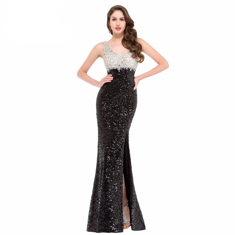 Sparkling Black Evening Gown