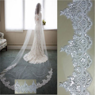 3 Meter Lace Cathedral Wedding Veil