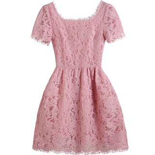 Blush Lace Junior Bridesmaid Dress