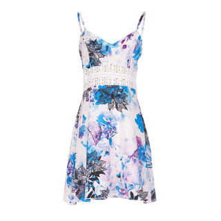 Chiffon Floral Print Sun Dress