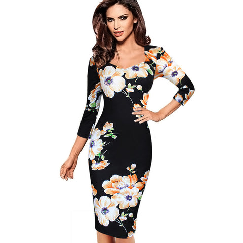 Elegant Fitted Sheath Bodycon Dress