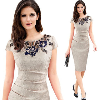 Elegant Vintage Bodycon Evening Dress