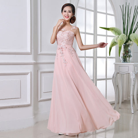 Chiffon Lace Evening Dress