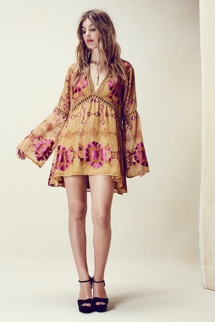 Gypsy Dreamer Chiffon/Silk Mini Dress
