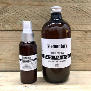 HAND SANITISER SPRAY | IPA70 with Witch Hazel + Tea Tree - KISS Skin Care | Australia, Hand Sanitiser