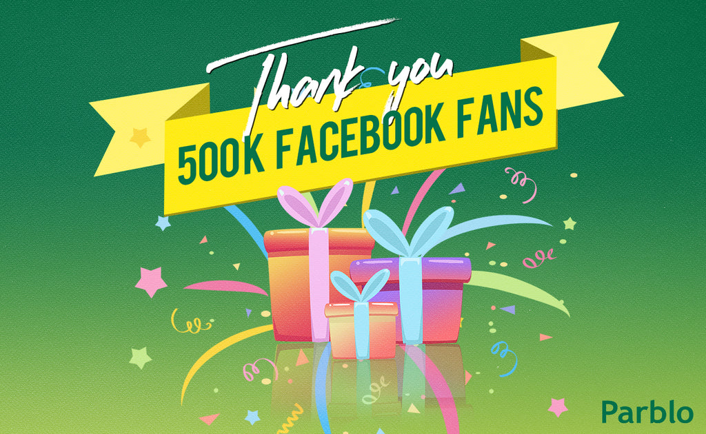 500K Facebook Fans! Thank YOU for being part of that!