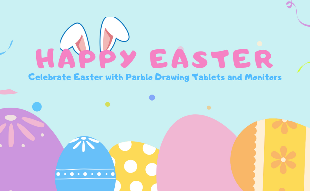 Happy Easter. Special Deals for Parblo Drawing Tablets