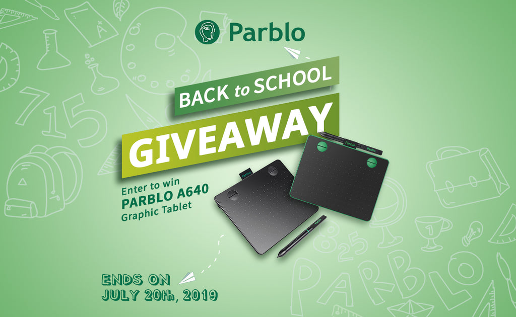 Back To School Giveaway 2019 - Enter To Win Parblo A640 Drawing Tablet