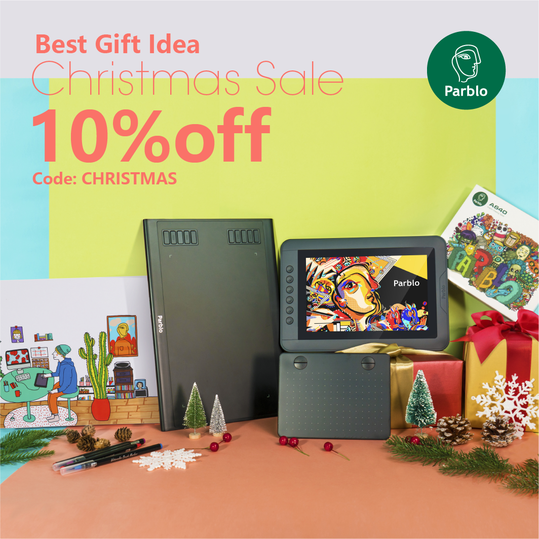 Parblo Christmas Deals Drawing Tablet 2018