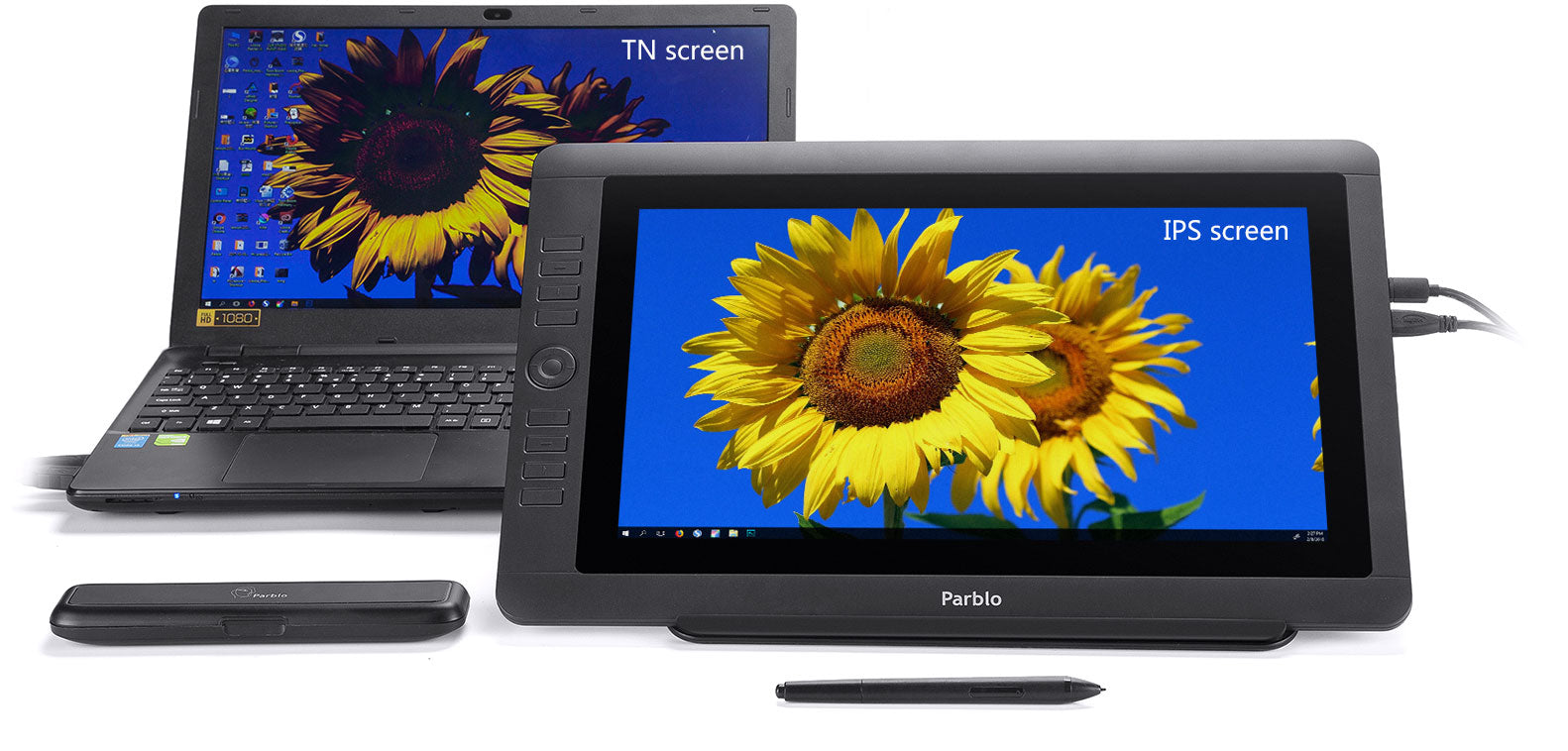 """15.6"""" IPS LCD with high viewing angle."""