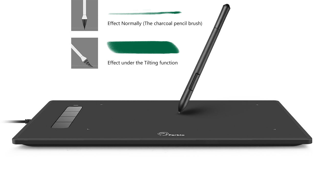 ± 60-Degree pen tilt angle induction