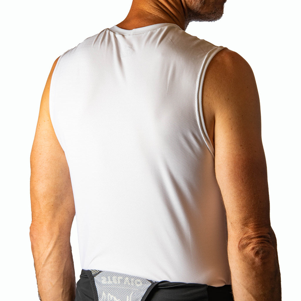 Mens white base layer