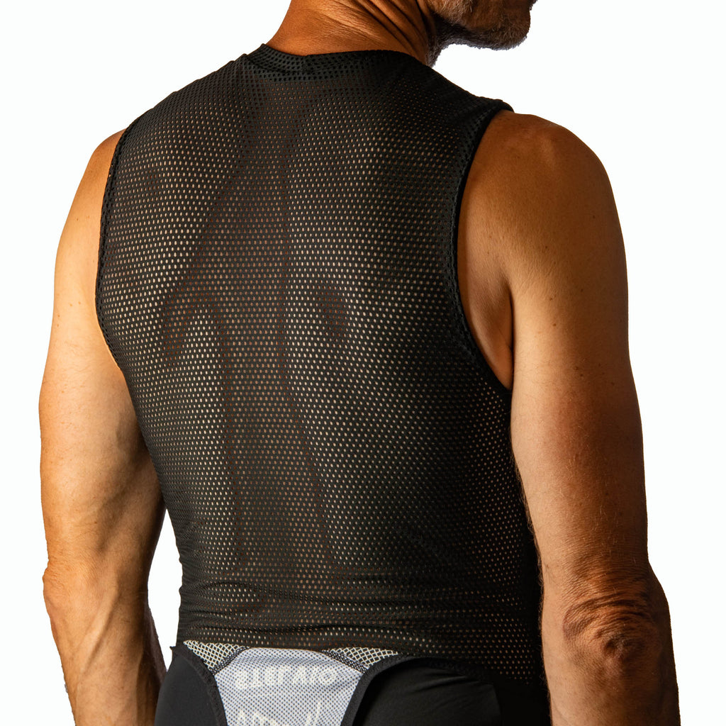 Men's black base layer