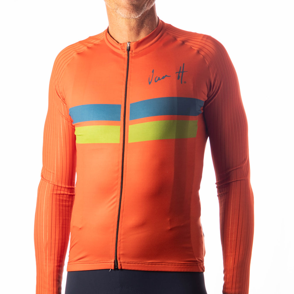Men's Orange long sleeve jersey