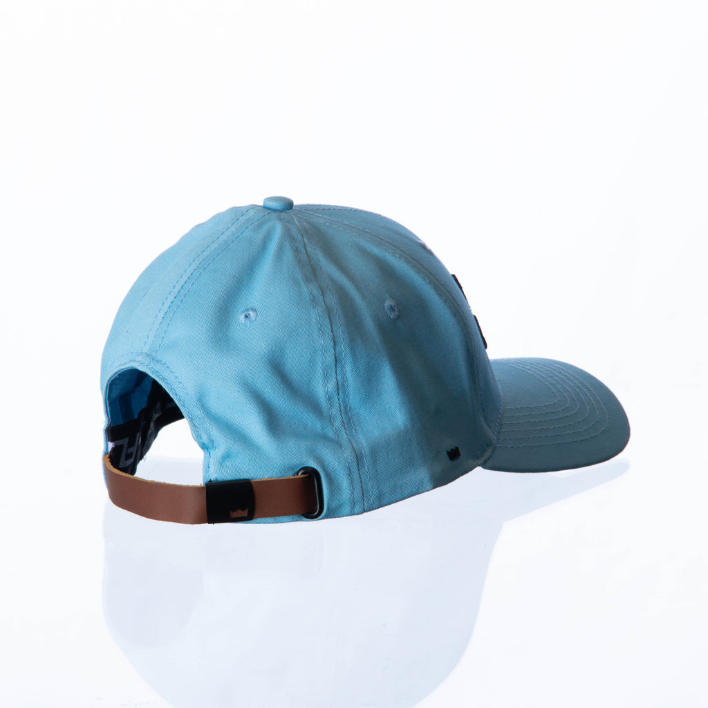 VanH Sky Blue leather strap cap