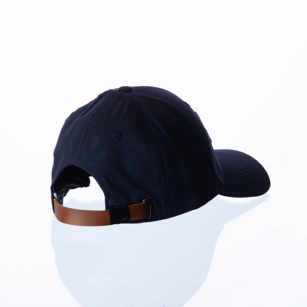 VanH Navy leather strap cap