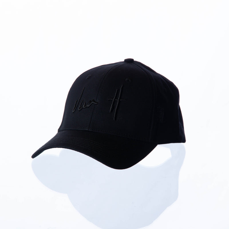 VanH Black leather strap cap