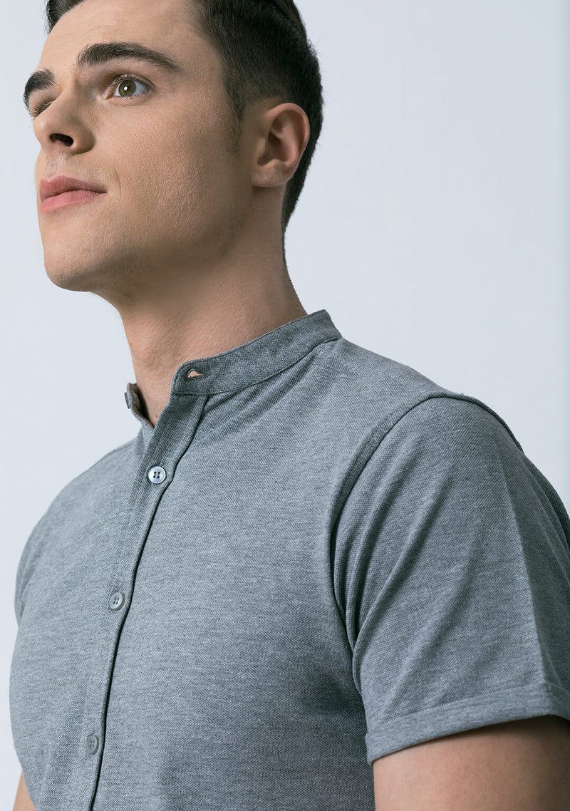 Light Grey Piqué Shirt