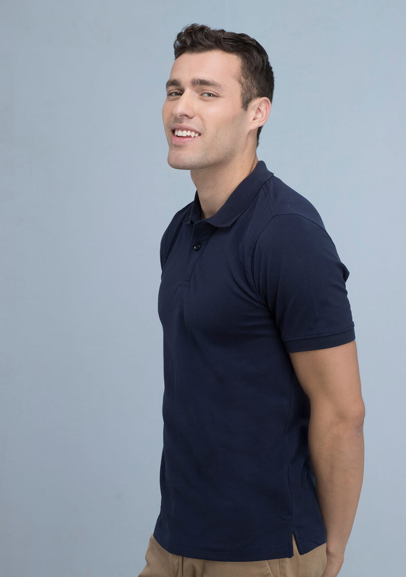 Navy Blue Polo T-shirt for Men
