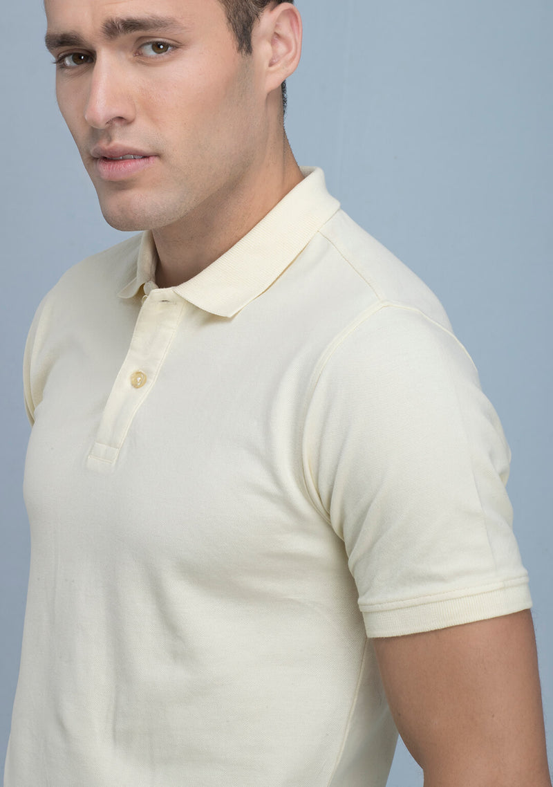 Buy Tuscan Yellow Polo T-shirt