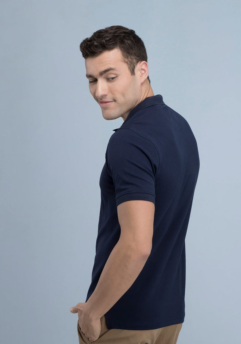 Shop Navy Blue Polo T-shirt Online