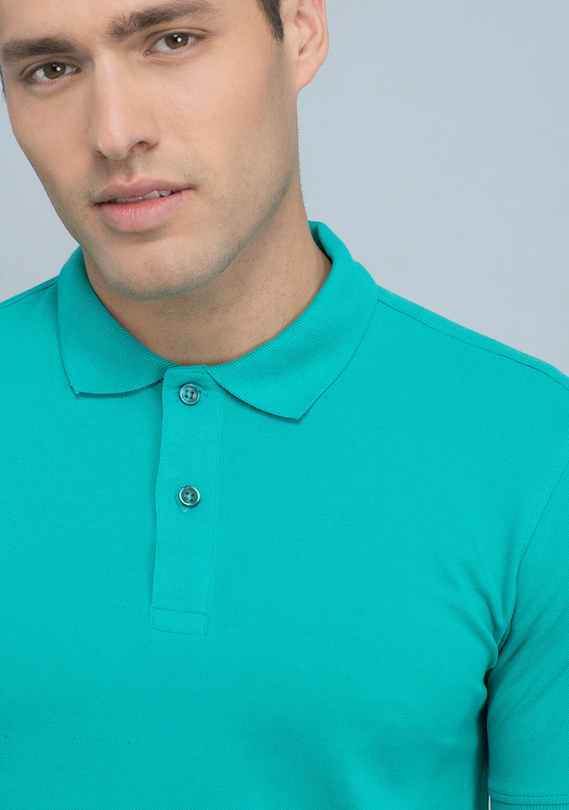 Buy Sea Green Polo T-shirt