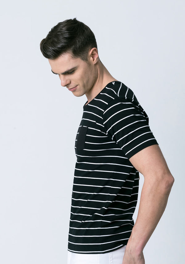 Stripe tee in Black & White