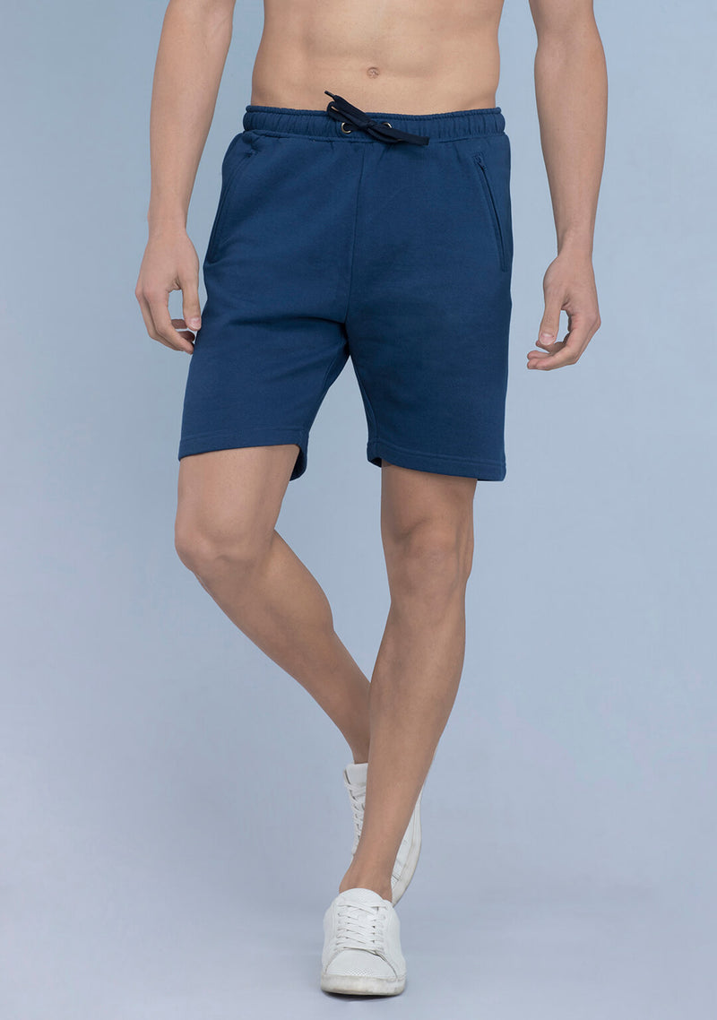 dark indigo color shorts men