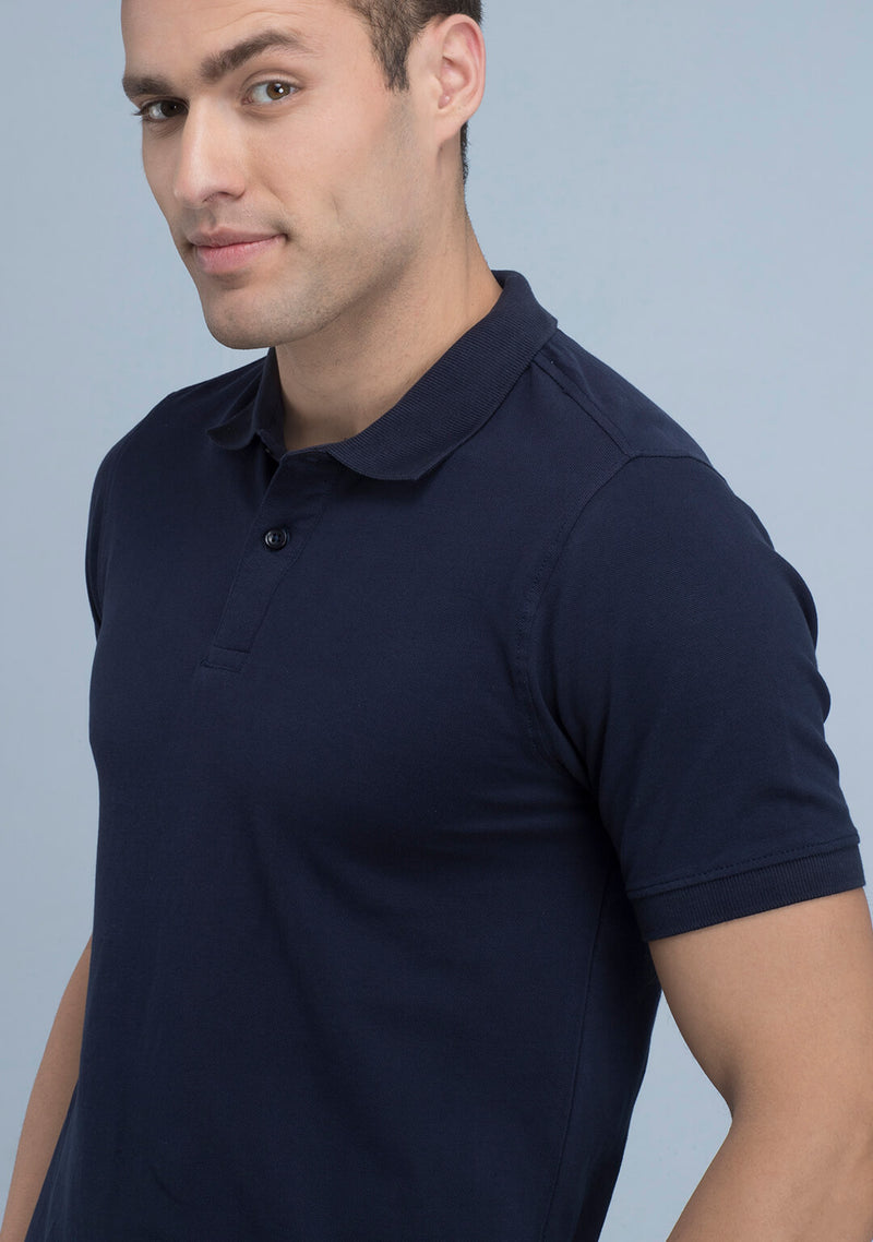 Buy Navy Blue Polo T-shirt
