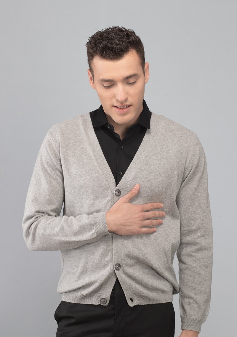 grey colour cardigan men