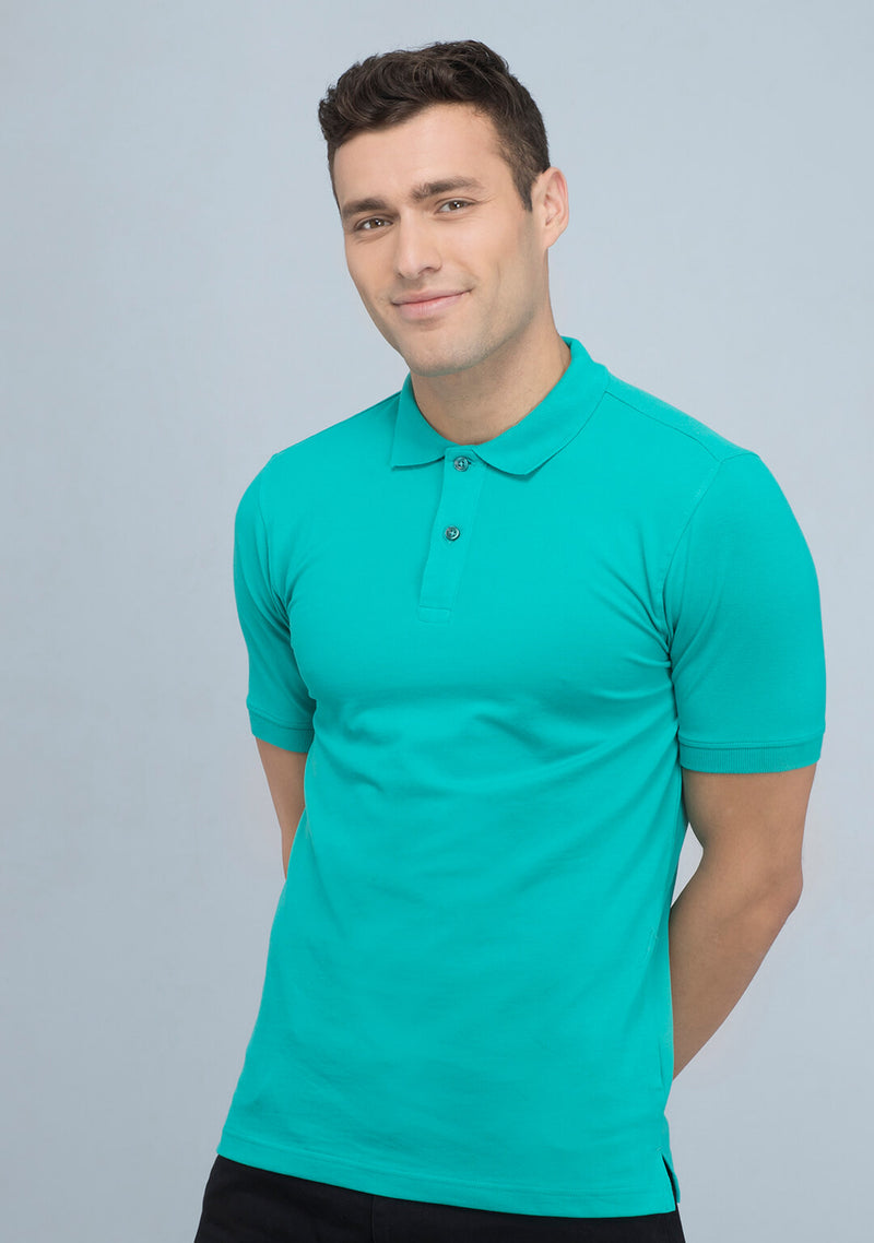 Sea Green Polo T-shirt Online