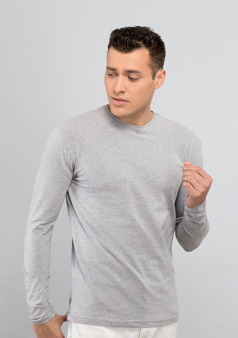Light Grey Mélange Full Sleeves